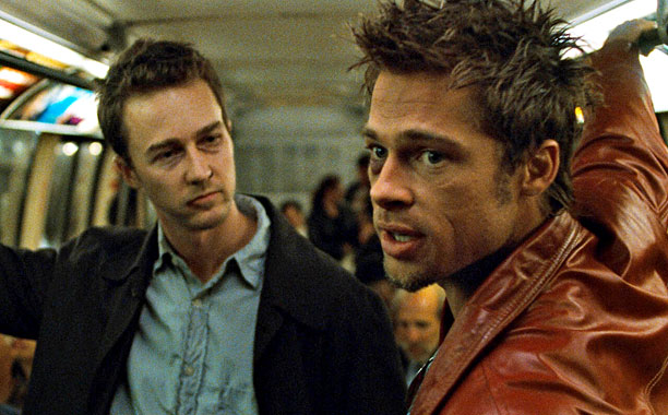 Fight Club (1999)Edward Norton and Brad Pitt (Screengrab)
